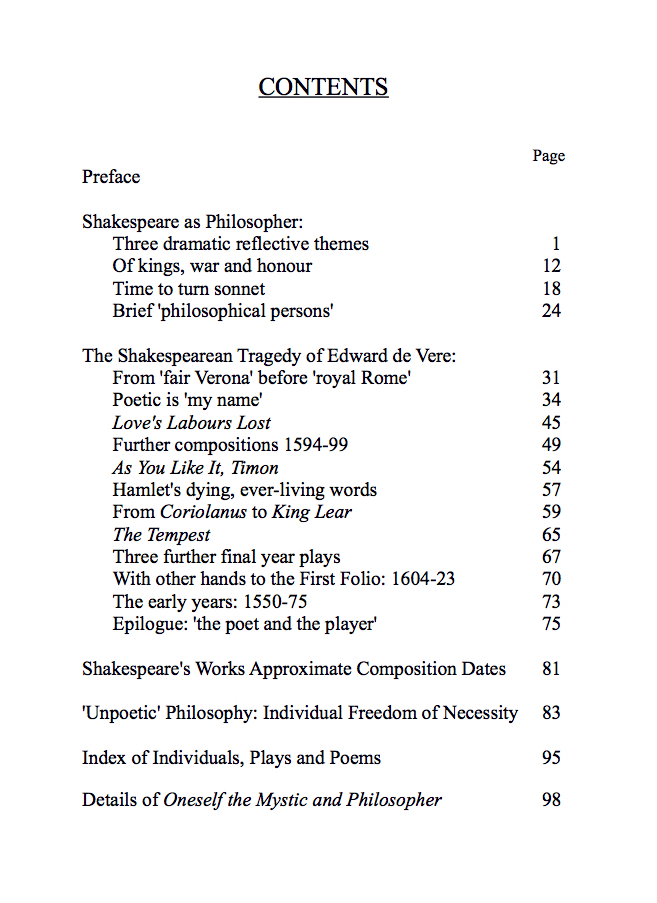 Shakespeare as Philosopher and the Shakespearean Tragedy of